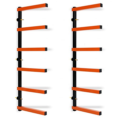 Max 600 lb Steel 6 Shelf Lumber Storage Rack Wall-Mounted Wood Pipes Rack  sc 1 st  Ski Gear & Max 600 lb Steel 6 Shelf Lumber Storage Rack Wall-Mounted Wood Pipes ...